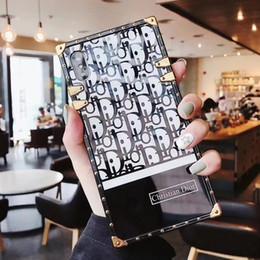 2019 caja del teléfono espejo de acrílico La más nueva caja de lujo del teléfono del diseñador de la moda para el iPhone X XS XR Xs Max 6 6plus 7 7plus 8 8plus Caja del teléfono del espejo de acrílico con cordón caja del teléfono espejo de acrílico baratos