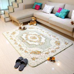 Dekorationen Für Couchtische Rabatt 120x180 CM Europäischen Stil Wohnzimmer  Großen Bereich Dekoration Teppich Schlafzimmer Weiche Teppiche