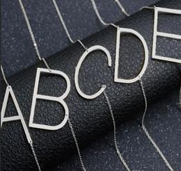 grande blocco di legno Sconti Acciaio inossidabile A-Z alfabeto inglese collana iniziale argento oro rosa placcato lettera maiuscola ciondolo gioielli di moda per le donne NAVE DROP