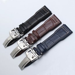 elenca le mele Sconti 20mm 21mm 22mm Cinturino in pelle Fit Big Pilot IW500107 Bracciale in pelle da uomo con orologio cronografo portoghese