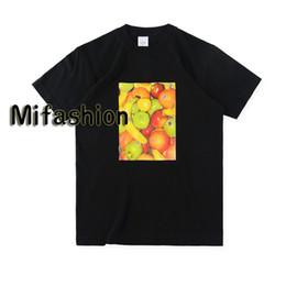 19ss Fashion Summer Box di alta qualità Logo Fruit Apple Banana Tee Skateboard Maglietta del progettista degli uomini Maglietta casuale di lusso delle donne Street da tè di mele fornitori