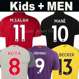 18 19 LFC camiseta de fútbol del Liverpool SALAH MANE FIRMINO M.SALAH  soccer jersey football shirts VIRGIL Portero Goalkeeper ALISSON BECKER  A.BECKER KEITA ... 04dba546e6e2a
