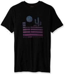2019 camisa nova homens Design fresco de verão boa qualidade RVCA masculino Desert Sunrise Tee verão Tops Tees T Shirt desconto camisa nova homens