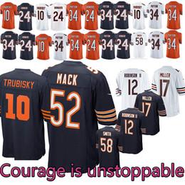 2018 ~ 19 Yeni Chicago Bears Futbol Forması 12 ROBINSONII 58 SMITH 54 URLACHER 24 HOWARD 29 COHEN 34 PAYTON 17 MILLER 10 52 Forma supplier football chicago nereden futbol şikago tedarikçiler