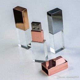 logo personalizzato flash drive Sconti Brand Crystal USB 2.0 Flash Drive Custom Logo 3D Fotografia Studio Fotografico Pendrive