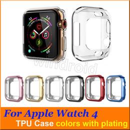 40 millimetri 44 millimetri ultra sottile trasparente trasparente trasparente in TPU di gomma flessibile placcatura custodia protettiva per Apple Watch iWatch Series 4 da