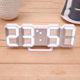 2019 новые светодиодные настенные часы Новые горячие современные цифровые 3D светодиодные настенные часы будильник часы повтора с 12/24 часовым дисплеем SMD66 скидка новые светодиодные настенные часы