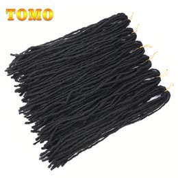 TOMO 20Inch Crochet Braids Couleur Noir Doux Et Serré Faux Locs Dreadlocks Synthétiques Basse Fibre Synthétique Extensions de Cheveux 12 brins / pack ? partir de fabricateur