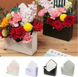 casella di busta regalo Sconti Busta Pieghevole Confezioni regalo per fiori Pieghevole per mani Pieghevole Bouquet floreale Scatola di carta Deco Flower Paper Holder Box Bouquet KKA7044