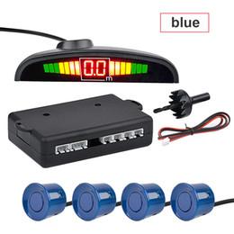 camara coche toyota rav4 Rebajas Recién Car Auto Parktronic LED sensor de aparcamiento con 4 sensores de reversa de reserva del coche del radar del estacionamiento Sistema de visualización del monitor del detector