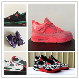 c1488d6335 Venta al por mayor 4 low NRG Hot Punch hombres zapatos de baloncesto IV  deportes al aire libre zapatillas de deporte de moda de ALTA calidad tamaño  36-47 ...