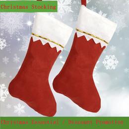 2019 decorazione spray a neve Calza di Natale Calze rosse in tessuto non tessuto per decorazioni natalizie Calze per regali di caramelle per bambini