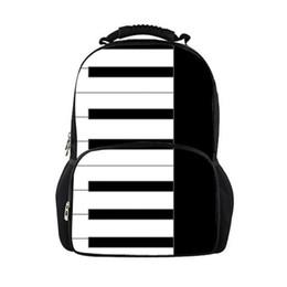Maßgeschneiderte Schulrucksack für Mädchen Klaviertastatur Muster Junior Studenten Schultaschen für Teenager Studenten Schulranzen Schultasche von Fabrikanten