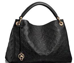 Cuero tote moda negro online-Bolso negro de la moda Estilo más nuevo de cuero Rejilla Bolsos impresos bolsos para las mujeres diseñadores de marcas famosas bolsas de hombro bolso de noche