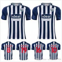 Nueva camiseta de fútbol de West Bromwich PHILLIPS GAYLE 19 20 Hogar lejos azul Sudadera blanca RODRIGUE Uniforme de fútbol 2019 2020 LIVERMOPE desde fabricantes