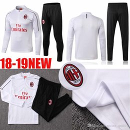 NEW 2018 2019 AAA+TOO season AC Milan training suit 18 19 home away soccer  jerseys football suit HIGUAIN 0890424aa1aea
