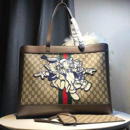 lila partei gläser Rabatt Hochwertige glückliche drei Schwein Serie Einkaufstasche Retro-Design Handtasche Canvas-Material Marke klassische Damentasche