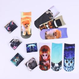 meias de impressão animal para crianças Desconto 12 estilos Unicorn animal dos desenhos animados 3D meias Crianças Impresso Meias Skate Crianças Hip Hop Odd personalidade original Meias DHL JY210
