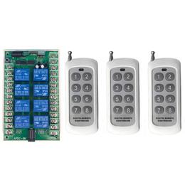 funkrelais Rabatt 500 mt DC 2 V 24 V 8CH 8 CH Drahtlose Fernbedienung LED Lichtschalter Relaisausgang Radio RF Sender Und 315/433 MHz Empfänger