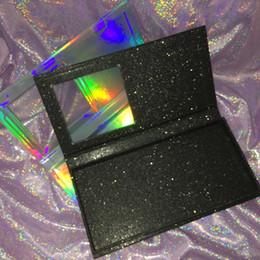 Пустая Книга Ресниц Пользовательские Упаковки Ресниц Голографическая Коробка Черный Блеск Книга Может Держать 4 Пары Ресницы FDshine cheap empty glitter box от Поставщики пустая коробка с блестками