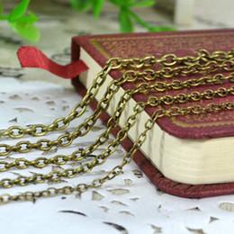 amerikanische goldkette 24k Rabatt Kreuz O Form Kette mit Karabinerverschluss Schmuck Kette für DIY Anhänger Halskette finden machen Antik Bronze schwarz 3 Farbe Ketten 0,7 mm