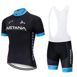 Ciclismo astana online-ASTANA ciclismo conjunto 2019 Tour de Francia del equipo hombres / mujeres del verano transpirable ropa de ciclo bib kit