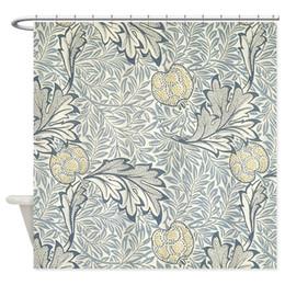 mela dropshipping Sconti William Morris di Apple tessuto decorativo tenda della doccia con 12 ganci Bathroon Decor Wholeslae Dropshipping