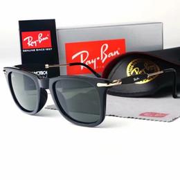 Óculos de sol wayfarer on-line-Nova moda 2148 ray marca óculos de sol do vintage wayfarer piloto óculos de sol proibe uv400 homens mulheres ben vidro bain lentes com o caso