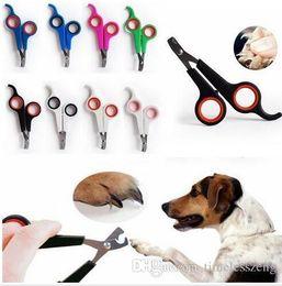 Forbici per la cura del cane online-Acciaio inox pet nail clipper cani gatti forbicine trimmer pet grooming forniture per animali domestici salute spedizione gratuita