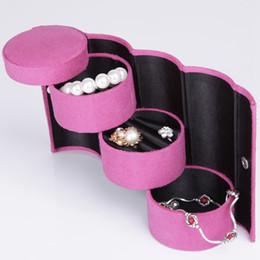 2019 orecchini dell'organizzatore Scatola di immagazzinaggio dei monili di 3 strati per l'accessorio dei monili della collana Contenitore di contenitore dell'organizzatore di trucco dell'orecchino dell'organizzatore dei monili di trucco RRA981 orecchini dell'organizzatore economici