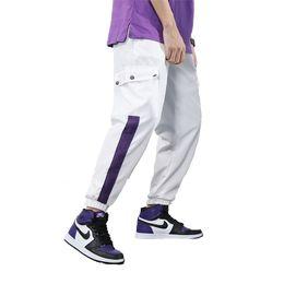 Safari Stil Rahat Pantolon Erkek Geniş Kasık Harem Gevşek İpli Kalem Pantolon Erkek Hip Hop Baggy Pantolon Homme Siyah Beyaz cheap mens baggy harem pants black nereden mens baggy harem pantolon siyah tedarikçiler