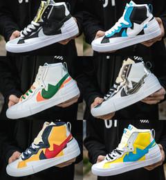 2020 Release Sacai Blazer mediados de los zapatos corrientes de los hombres Airs zapatos del amortiguador deportes de las mujeres zapatillas de deporte Tamaño 36-45 desde fabricantes