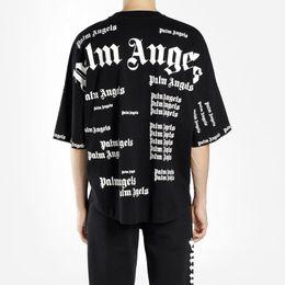 Palm Angels Oversize T-Shirt Männer Frauen hochwertige Patchwork voller Druck Tops Tees Mode Baumwolle Palm Angels T-Shirts von Fabrikanten