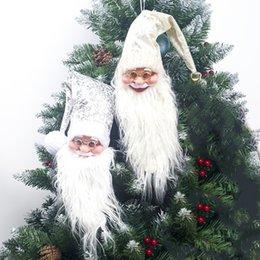 Плюшевая рождественская елка санта онлайн-Плюшевые Дед Мороз Вино Украшения Бутылки Рождественские Украшения Xmas Tree Висячие Подвески Декор Дома Отдыха