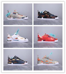 sapatos de corrida lunar Desconto 2019 Chegam Novas Wmns Força Lunar 1 Duckboot Low3D Moda Casual Tênis Para Alta Qualidade Dos Homens de Malha Denim Mosaico Sneakers Esportes