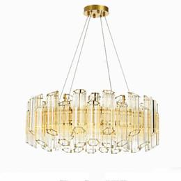 Pflaumenkronleuchter online-Luxus post plum glas kronleuchter moderne licht pendelleuchte rohr anhänger hängen lampe beleuchtung wohnzimmer esszimmer pendelleuchte