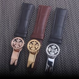 Argentina Banda de reloj Correas de cuero genuino 20 mm 21 mm 22 mm Accesorios para relojes Reloj de alta calidad en colores marrón negro cheap 21mm leather watch strap Suministro