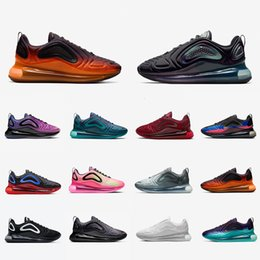 blitzgradienten Rabatt Nike Air max 720 airmax 720 Stock X Desert Gold 720 Men women Running Shoes Triple Black 720s Be true University Flash Sea Forest Volt Mens Sports Designers Sneakers
