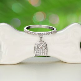 2020 anel de prata pedras pequenas Anéis jóias bonito pequena fêmea Crystal Stone Anel Boho 925 Engagement nupcial anel de casamento vintage para mulheres desconto anel de prata pedras pequenas