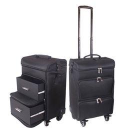 carrinhos de maquiagem Desconto Carrylove mulheres maquiagem trolley caixa de cosméticos profissional saco de viagem grande mala de cosméticos