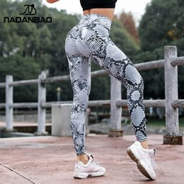 jambières pieds libres Promotion NADANBAO Push Up Snake Print Leggings Femmes Sporting Fitness Legging Taille Haute Workout Leggin Pour Femme Élastique Pantalon Mince