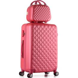 2 PCS / SET étudiants mode sac à cosmétiques 20/22/24/28 pouce fille trolley cas Voyage spinner mot de passe bagages femme valise à rouler ? partir de fabricateur