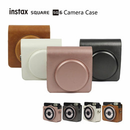 camera pouches Coupons - Instax SQUARE SQ6 Camera Case Vintage PU Leather Case Shoulder Strap Bag Carry Cover Protection Pouch Gift Wedding