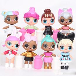 2019 boneca de borracha rosa 9 CM LoL Boneca com mamadeira PVC Americano Kawaii Crianças Brinquedos Anime Figuras de Ação Realistas Bonecas Reborn para meninas 8 Pçs / lote
