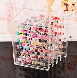 Klare nägel acryl-box online-Nagel-Gel-Display-Boxen Nagel-Muster-Display-Regal Transparentes Acryl-Display-Regal