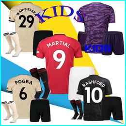2020 Crianças Unidos POGBA MARCIAL Maguire Man vermelho camisas de futebol 19 20 UTD RASHFORD camisa de futebol camisas ALEXIS LINGARD Camiseta de futbol de Fornecedores de jaqueta de ozil