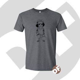 2019 ilustrações de free cartoon Grande Lebowski The Dude Cult Film inspirado Dos Desenhos Animados gráficos impressos Tshirt Engraçado frete grátis Unisex Casual Tshirt ilustrações de free cartoon barato