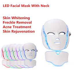 Терапией света PDT Сид маска для лица с 7 цветов фотона для лица и шеи домашнего использования омоложения кожи LED Маска от Поставщики фотонная маска для лица