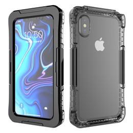 Caso ip68 online-Custodia IP68 Real Custodia impermeabile per iPhone X 8 7 Plus 6 6S Plus Protezione completa Custodia Under Water Case per iPhone XR XS Max