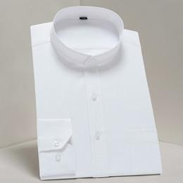 Mandarin Yaka Elbise Gömlek Çin Tarzı Standı Yaka Erkek Iş Resmi Sosyal Gömlek Casual Uzun Kollu Sim Fit nereden